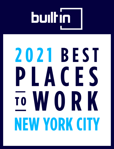 Badge: Builtin's 2021 Best Places to Work, New York City