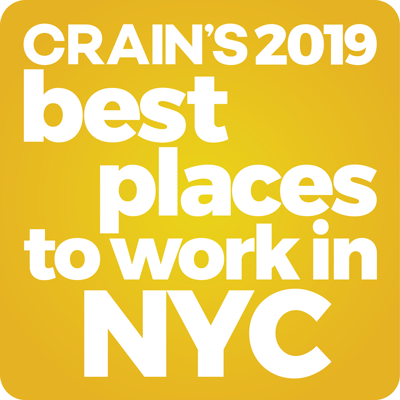Badge: Crain's 2019 Best places to work in NYC